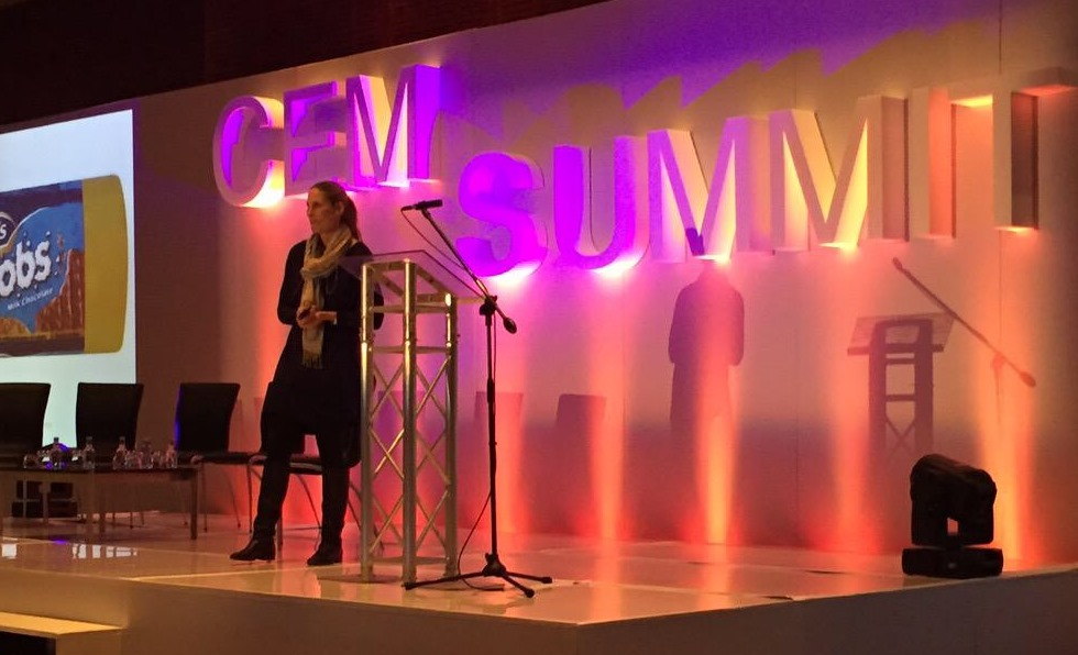 Lisa Reid, MD of Truth, sharing her thoughts and experience on customer engagement strategies at CEM Africa Summit, held in Cape Town.